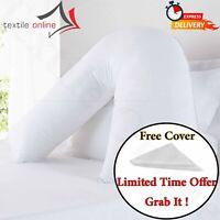 V Shaped Pillow And FREE Case Orthopedic Back & Neck Maternity Nursing Support