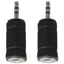 3.5mm Mini Jack Socket para 2.5mm Enchufe Adaptador Conversor de Audio Estéreo X 2