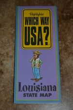 """Highlights Which Way Usa? Louisiana State Map """"Vgc"""""""