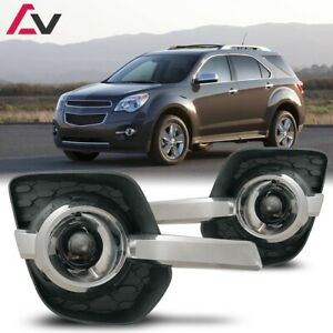 10-15 For Chevy Equinox Clear Lens Pair OE Fog Light Lamp+Wiring+Switch Kit DOT