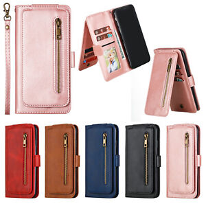 For Huawei Y5P Y6P Y7P Y9Prime P40 P30 P20 Pro Zipper Case Leather Wallet Cover