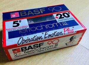 2 x BASF 90 Ferrochrom III Rare Vintage Cassette Audio Tape New 1982 Sealed