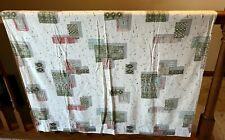 "Mcm Vintage Tiki Atomic Barkcloth Curtains Drapes - 2 panels - 42""W x 47""L each"