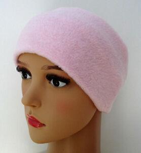 Headband WIDE PALE LIGHT PINK fleece ear head warmer muff hat ski sport Ladies