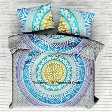 Ombre mandala indien couvre-lit avec taies d'oreiller wall hanging bed cover bohemian