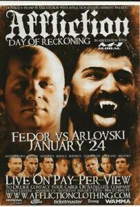 2009 FEDOR VS ARLOVSKI MMA HANDBILL