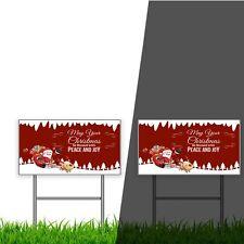 Custom Yard Signs Reflective 3FeeT 4 outdoor display FRONT PRINT visible in dark
