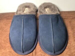 UGG Scuff Suede Navy Blue 1005605 Slip On Slippers Men's Size 8
