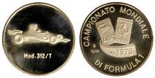 MEDAGLIA CAMPIONATO MONDIALE FORMULA UNO 1975 FERRARI 312/T ARGENTO/SILVER #D961