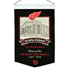 Detroit Red Wings Red Wings Olympia Stadium NHL Embroidered Wool Banner Flag