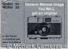 Rollei 35B Instruction Manual, More Rolleiflex 35mm Camera Books Listed