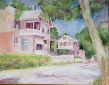 "Suzanne Obrand, Holocaust Survivor, Watercolor Painting ""Key West"""