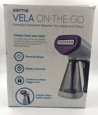SIENNA VELA ON THE GO COMPACT GARMENT STEAMER FOR HOME AND TRAVEL Open Box/New