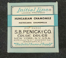 Vintage S B Penick & Co Crude Drugs Chamomile Loose Pack Full Un-Opened Box
