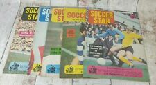 Collection of 5 Vintage Soccer Star Magazines 1968 Inc George Best Man Utd
