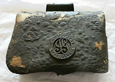 Civil War ID'd Co. G, 12th Regiment Pro Patria Leather Cartridge Box