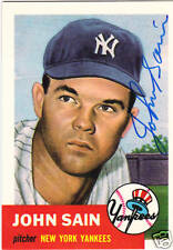 1953 Topps ARCHIVE #119 JOHNNY SAIN signed card Died 06