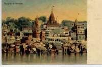 (w16g36-100)  Temples at  BENARES c1910, Unused