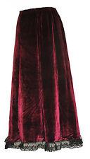 Gothic HALLOWEEN Ballerina Velvet Long Skirt Full Length Prom Sexy Party Wear