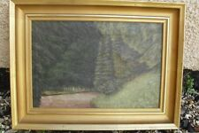 Pine forest oil in gilt frame