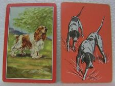 6 OLD DOG SWAP PLAYING CARDS COCKER SPANIEL BIRDS HUNTING RETRIEVER PUPPY