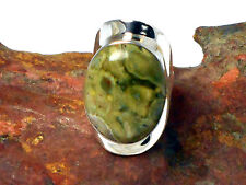 RHYOLITE   Sterling  Silver  925  Gemstone  RING  -  Size: L -  Gift Boxed!
