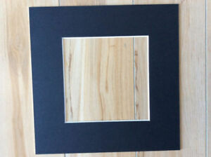 """6 x Professional Picture Framing Mat Boards 12x12"""" with 8x8"""" Window"""