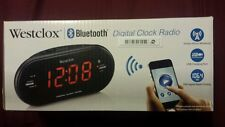 NIB Westclox Bluetooth Digital Clock Radio - Black