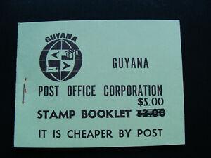 RARE - BOOKLET 1981 Guyana AIR FISH $1 & 50c  & BUTTERFLIES 20c OVERPRINT on 35c