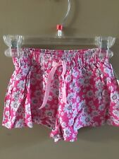 Toughskins Girls Pink with White Daisies Elastic Waist with Tie Shorts 12M Nwt
