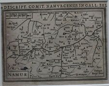 Original antique map BELGIUM, WALLONIA, NAMUR, Bertius c.1616