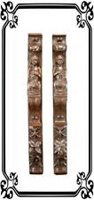 Sumptuous Pair of French Carved Figures Trim Posts, Wood Wall Columns