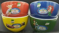 4x Disney On Ice Cereal Soup Bowl Set Ceramic. Knorr. Toy Story, Tinkerbell, Box