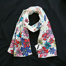 NWT COACH MULTI Signature Floral Flower Cotton Long Oblong Scarf NEW