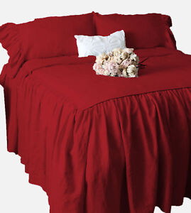 "1 Piece 800tc Egyptian Cotton Dust Ruffle Bed Spread 30"" drop all size & color"