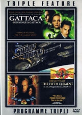 Sci-Fi - Triple Feature Gattaca/ Starship Troopers/ Fifth Element (Dvd, 2008)