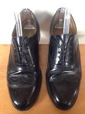 Vintage Towncraft Black Leather Soles Mens Wingtips Dress Oxfords Shoes 10D 44