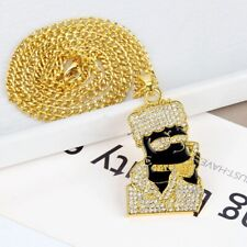 Iced Out Bart Chain Simpson Chain Pendant Necklace Shine Icy Jewels Ice Bling!!!