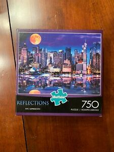"""Buffalo Games  """"NYC Supermoon"""" 750 Piece Puzzle """"NEW"""