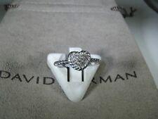 DAVID YURMAN AUTHENTIC PETIT PAVE HEART DIAMOND RING SIZE 7  D.Y. POUCH