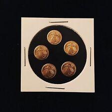 5 Beautiful St Gaudens Mini Gold Coins 14K .5g Each - Best Deal on Ebay