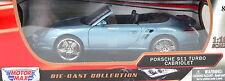 Porsche 911 Turbo Cabriolet 2008 blaugrau Maßstab 1:18 von motormax