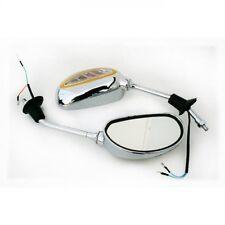 Rückspiegel Universal Spiegel für Motorrad ATV Quad Scooter Roller CHROM 930