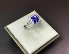 Tiffany & Co Legacy Tanzanite Diamond Ring in Platinum 2.92 cttw