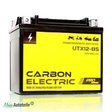 AGM Batterie YTX12-BS 12V 10Ah Carbon Electric PRO Series Motorrad Quad Roller