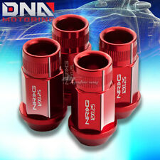 4 X NRG M12 X 1.25 ANODIZED ALUMINUM RIM RACING LUGNUT/WHEEL LOCK RED