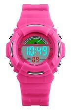 Pink digital sports wrist-watch Waterproof/Outdoor/Shock-proof Girl/Kid/Children
