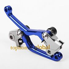 For Yamaha YZ125 YZ250 2008-2014 Pivot Brake Clutch Levers 10 11 12 13 Blue CNC