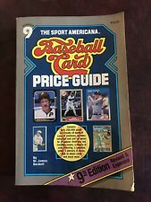 The Sport Americana Number 9 Baseball Card Price Guide 1987 PRE-OWNED