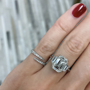 ~* New Auth. Ring Concierge Open Diamond Wrap Ring 14K Yellow Gold *~